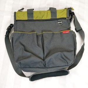 Skip Hop Dark Gray / Green Diaper Bag Large
